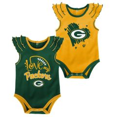 Packers Newborn 2-Pack Touchdown Bodysuit Set