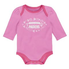 Packers Infant Girls 2-Piece All Love Bodysuit Set