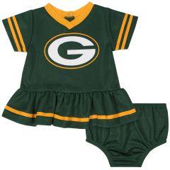 Packers Infant Girls Dress & Diaper Cover Set