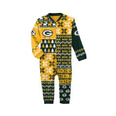 Packers Infant Ugly Sweater Coverall Pajama