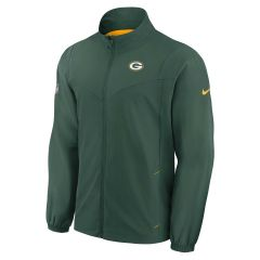 Packers Woven Full Zip Coaches Jacket