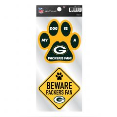 Packers Double Up 2-Pack Pet Decal Set
