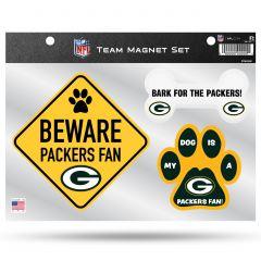 Packers 3-Pack Team Pet Magnet Set