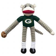 Packers Sock Monkey Pet Toy