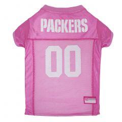Packers Pink Pet Mesh Jersey