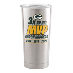 Packers Aaron Rodgers MVP 2020 Stainless Tumbler