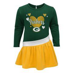 Packers Pre-School Girls Diamond Dress