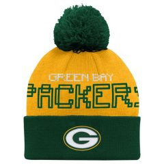 Packers Pre-School Cuff Knit Pom Hat