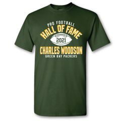 Packers Woodson Pro HOF 2021 Elected T-Shirt