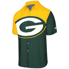 Packers Big Logo Button Up Shirt