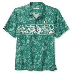 Packers Pina Plazzo Silk Camp Shirt