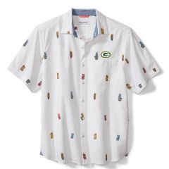 Packers Tiki Toss Button Down Camp Shirt