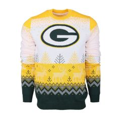 Packers White Big Logo Knit Ugly Sweater