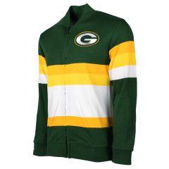 Packers G Logo Stripe Zip Sweater