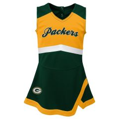 Packers Toddler Cheer Captain Dress