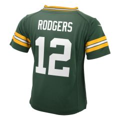 #12 Aaron Rodgers Home Toddler Game Jersey