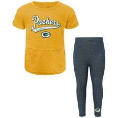 Packers Toddler Diamond T-Shirt & Legging Set
