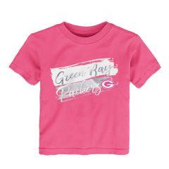 Packers Toddler Girls Brush Stroke T-Shirt