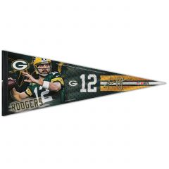 Packers #12 Rodgers Jersey Stripe Pennant