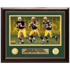 Packers Quarterback Legends Bronze Coin Photomint