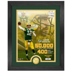 Packers Rodgers Milestones Bronze Coin Photomint