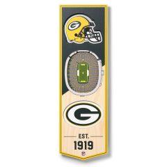 Packers StadiumView 6x19 3D Banner