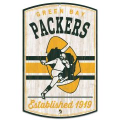 Green Bay Packers Retro Logo  Wood Sign