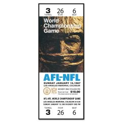 Packers Super Bowl I Ticket Replica Wood Sign
