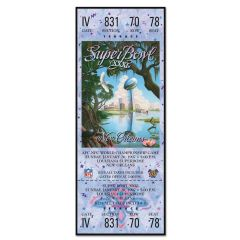 Packers Super Bowl XXXI Ticket Replica Wood Sign