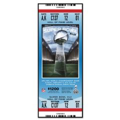 Packers Super Bowl XLV Ticket Replica Wood Sign