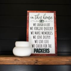 Packers Box List Wood Sign