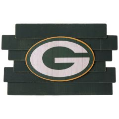 Packers Staggered Wood Logo Sign