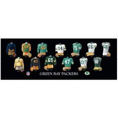 Packers Legacy Uniform Wood Plaque