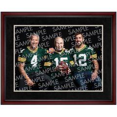 Legendary Quarterbacks Photo - Cherry Frame