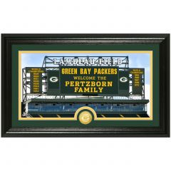 Packers Personalized Scoreboard Framed Photomint