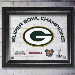Packers 4-Time SB Champions UV Printed Glass Frame