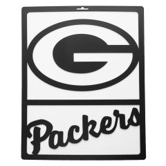 Packers Silhouette Metal Team Sign