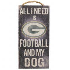 Green Bay Packers Football & My Dog Sign