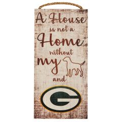 Packers A House Is Not A Home Wood Sign