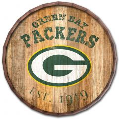 Packers Established Date Wood Barrel Top