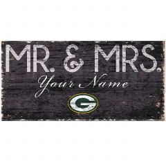 Packers Personalized Mr. & Mrs. Wood Sign