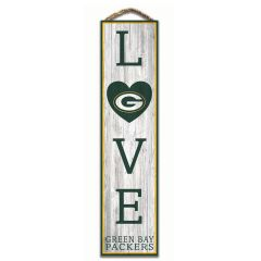 Packers Love Wood Sign