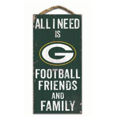 Packers Friends & Family Wood Sign