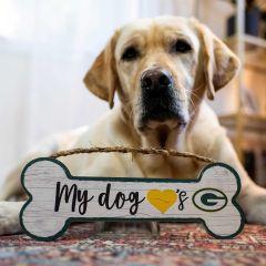 Packers Dog Bone Wood Sign