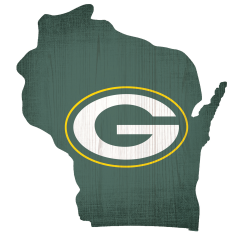 Packers Team Color State Cutout