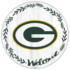 Packers Welcome Circle Wood Sign