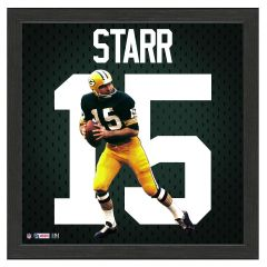 Packers Bart Starr Impact Jersey Framed Photo