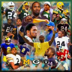 Packers Charles Woodson Career Collage Print