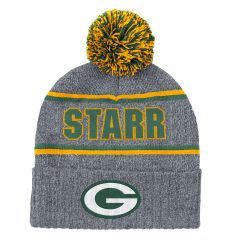 Packers #15 Bart Starr Cuff Knit Hat