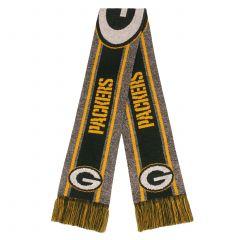 Packers Gray Stripe Big Logo Knit Scarf